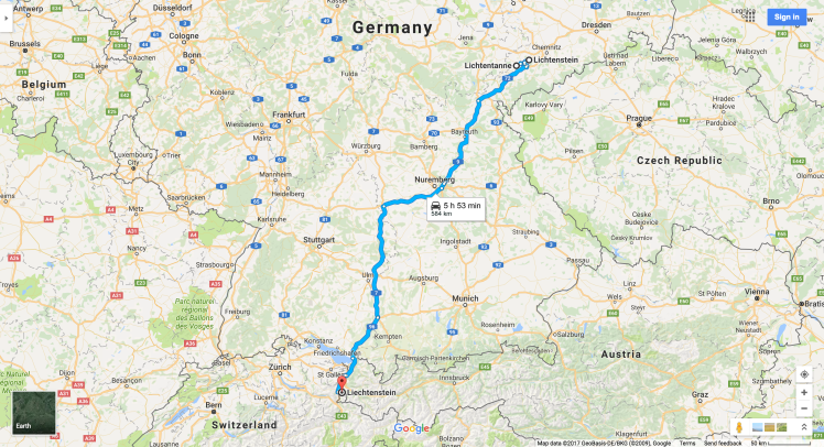 Planes Trains and Automoships Atlas Travel Blog – Lichtenstein Germany Map